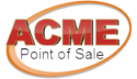 Logo ACME  Vacuum Fluorescent Countertop Customer Pole Display